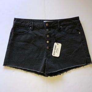 NWT Velvet Heart Black Denim Jean Shorts